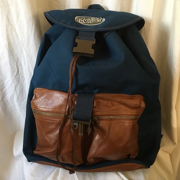 8562cd0ee6b7 Vintage 80 s Campusac Leather   Nylon Backpack. M 5b7c61fb5bbb8003e73045ac